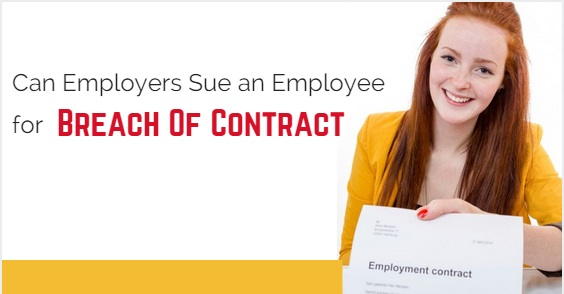 employer sue employee breach contract