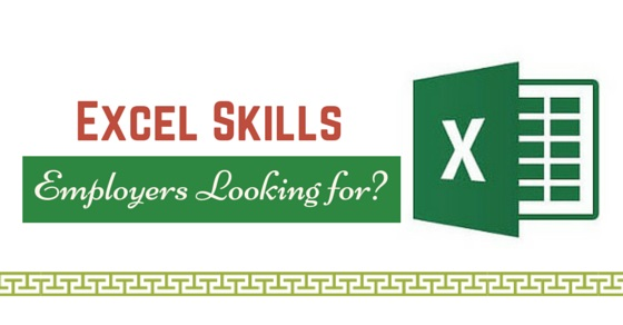 excel skills employers look