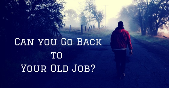 go back to Old Job