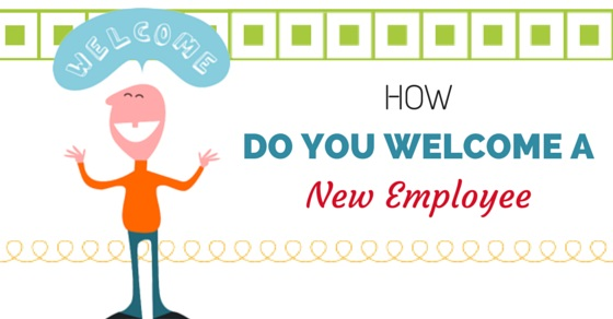 how welcome new employee