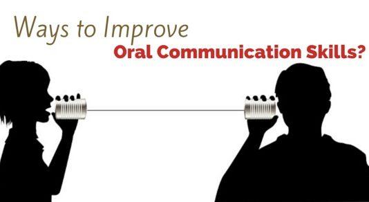 improve oral communication skills