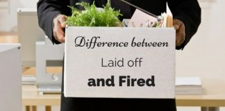 laid off fired difference