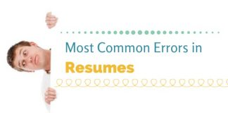most common errors in resumes