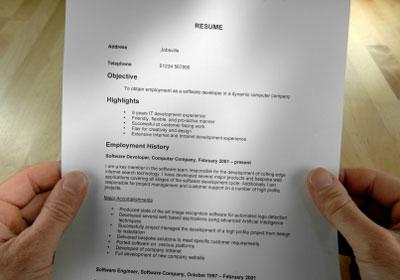 resume errors to avoid