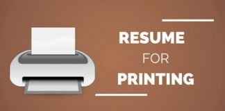 resume for printing