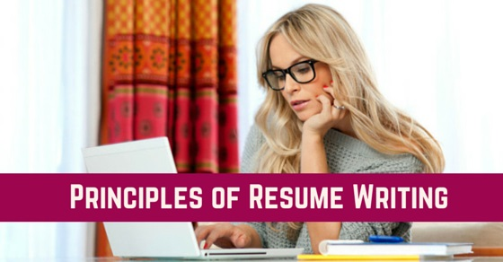 resume writing principles guidelines