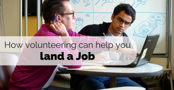 volunteering helps get job