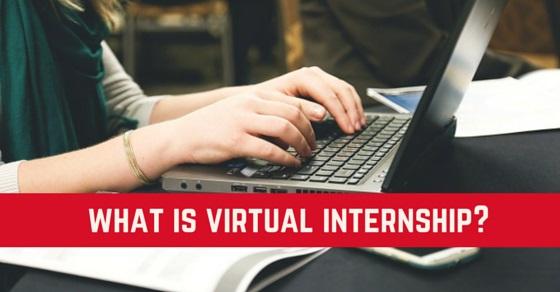 what is virtual internship