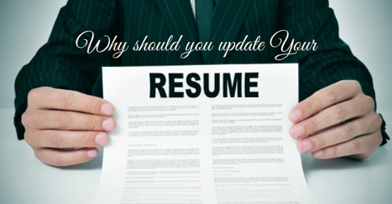 why update your resume