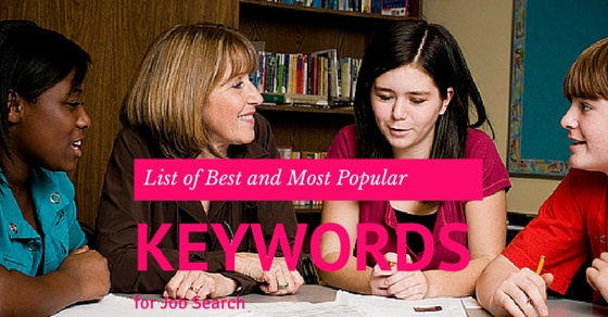 Job Search Keywords List