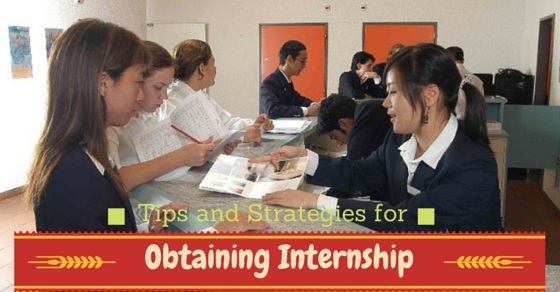 Obtaining Internship Strategies Tips
