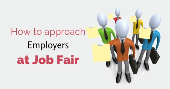 approach employers at job fair