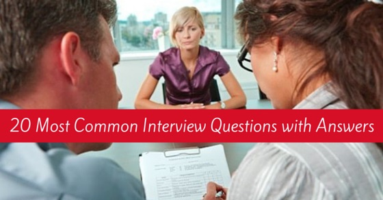 common interview questions answers