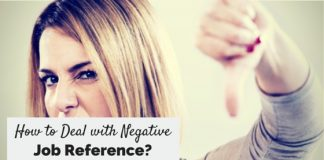 deal with negative job reference