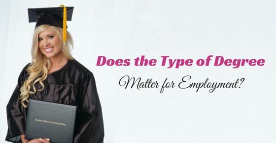 degree matter for employment