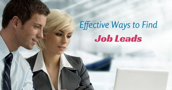effective ways find job leads