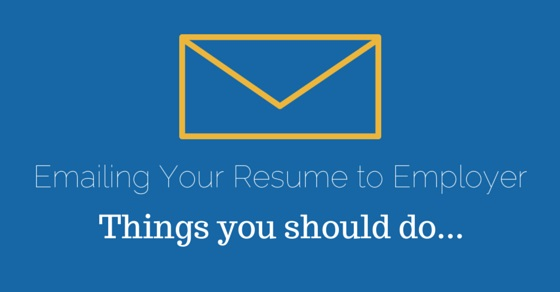 Emailing your Resume to Employer: Before, While, After Tips - WiseStep