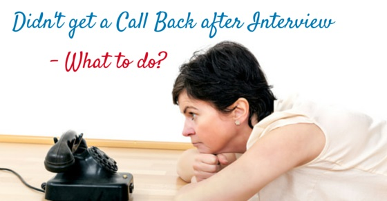 get call back after interview