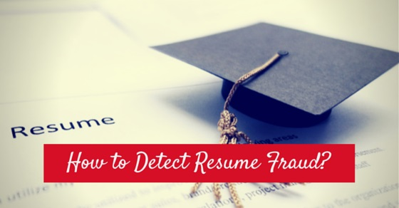 how detect resume fraud