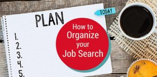 how organize job search