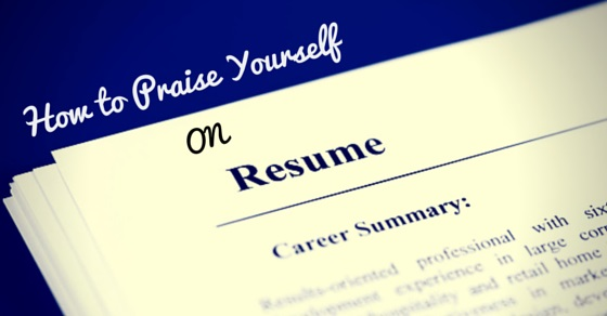 how praise yourself resume