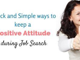 positive attitude during job search