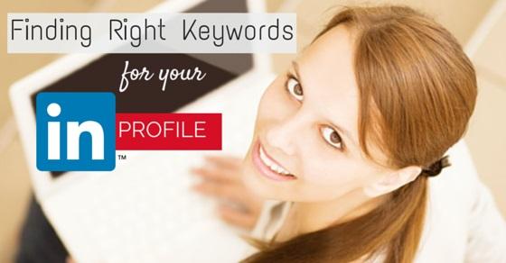 right keywords linkedin profile