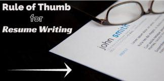 rule of thumb resume writing