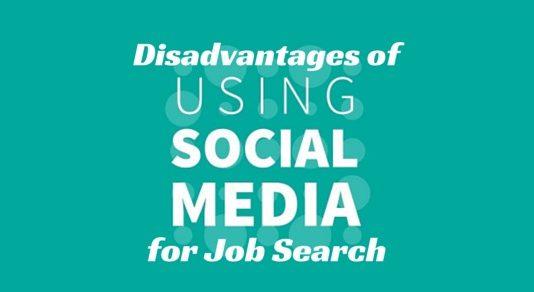 social media disadvantages job search