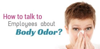 talking to employee body odor