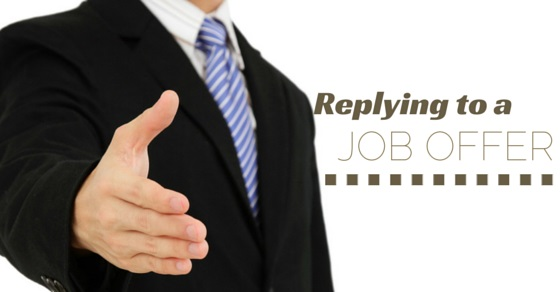 Replying to Job Offer