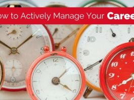 actively manage your career