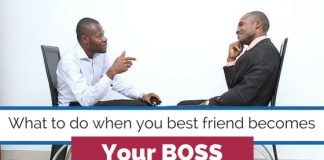 best friend becomes boss