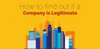 find company is legitimate