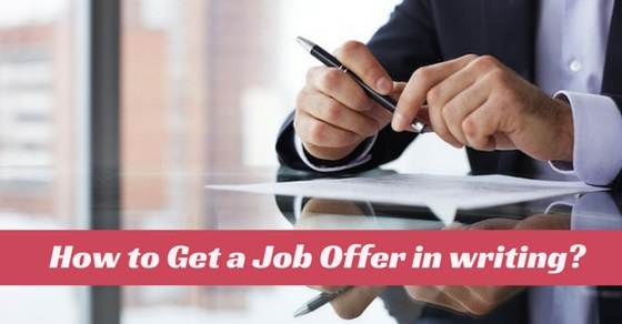 get job offer in writing