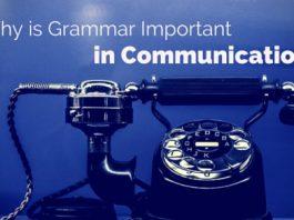 grammar important in communication