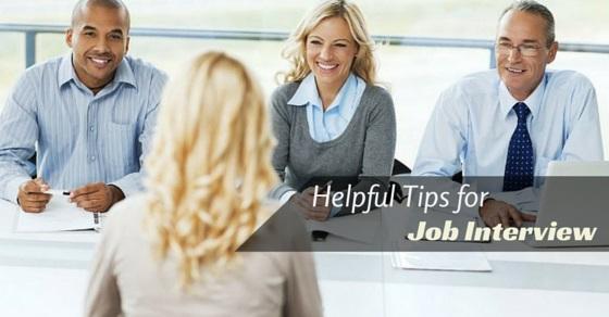 helpful tips for Job Interviews