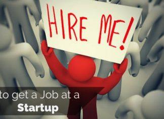 how get job at startup