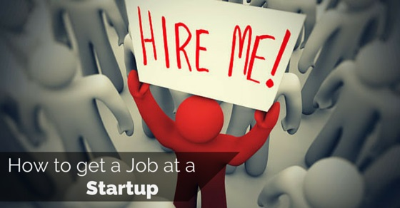 how get job at startup