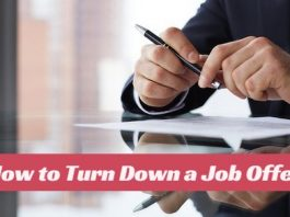 how turn down job offer