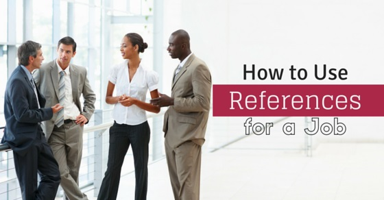 how use references for job