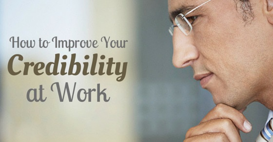 improve credibility at work