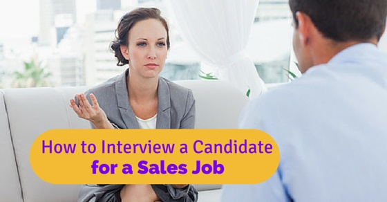 interview candidate for sales job