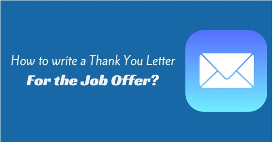 job offer thank you letter