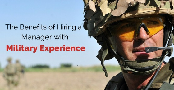 manager with military experience