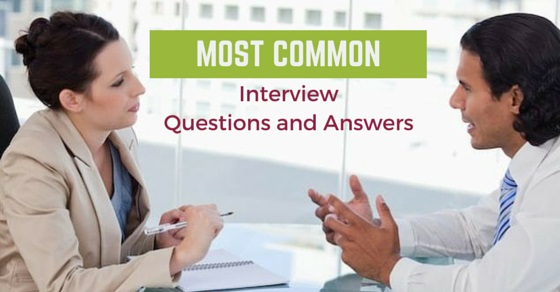 most common interview questions answers