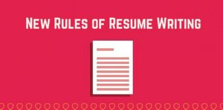 new rules resume writing