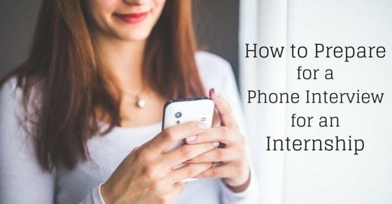 phone interview for internship