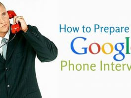 prepare google phone interview