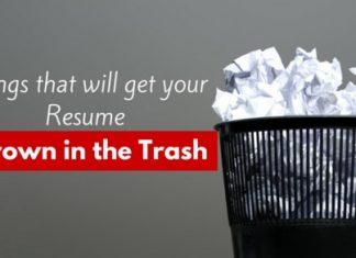 resume thrown in trash